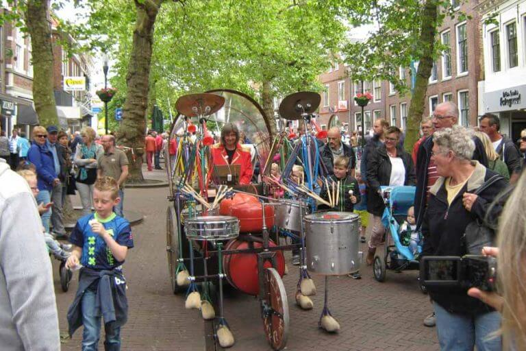 Drumband op Klompn